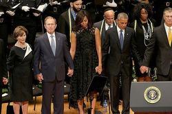 Джордж Буш-младший станцевал на похоронах