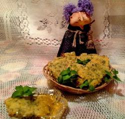 Ароматное печенье с мелиссой и сыром