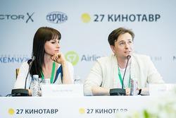 Сергей Безруков и Анна Матисон провели пресс-конференцию
