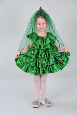 Новогодний костюм для девочки своими руками