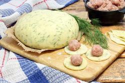 Тесто для пельменей с зеленью