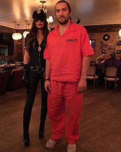 Александр Овечкин и Анастасия Шубская на хэллоуинской вечеринке