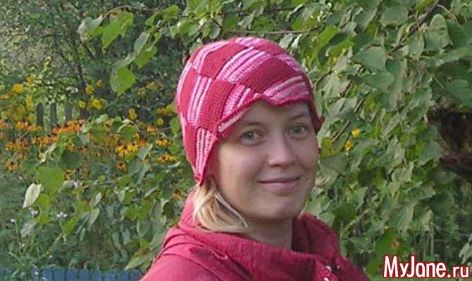 Шапочка «Цветок». Вязание длинным/тунисским крючком