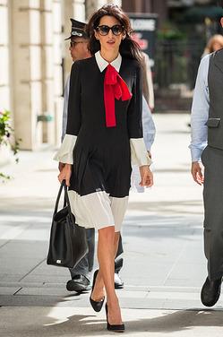Сногсшибательный деловой образ Амаль Клуни
