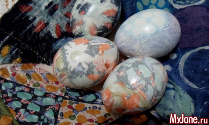 Готовимся к Пасхе. Окраска яиц шелком