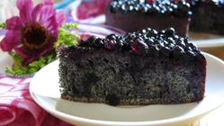 Маковый пирог с черничным желе