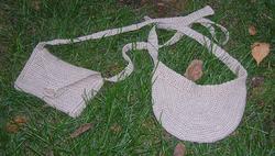 Козырек и сумочка. Вязание крючком