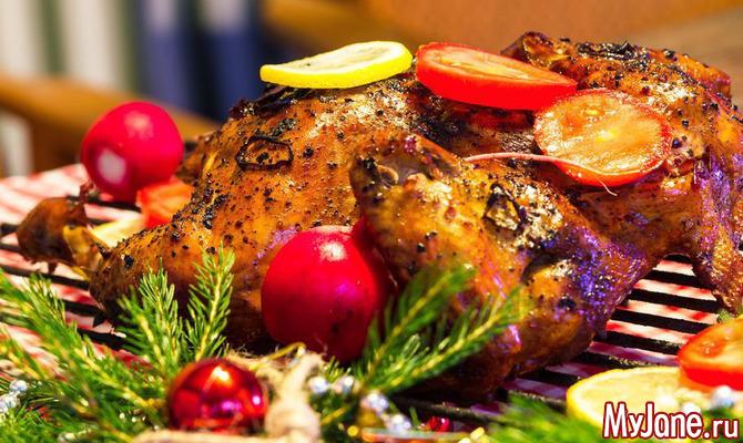 Запекаем курицу к новогоднему столу