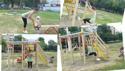 Фитнес на детской площадке
