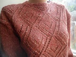 Джемпер из твидовой пряжи. Мой новый проект. Sweatshirt from tweed yarn. My new project.
