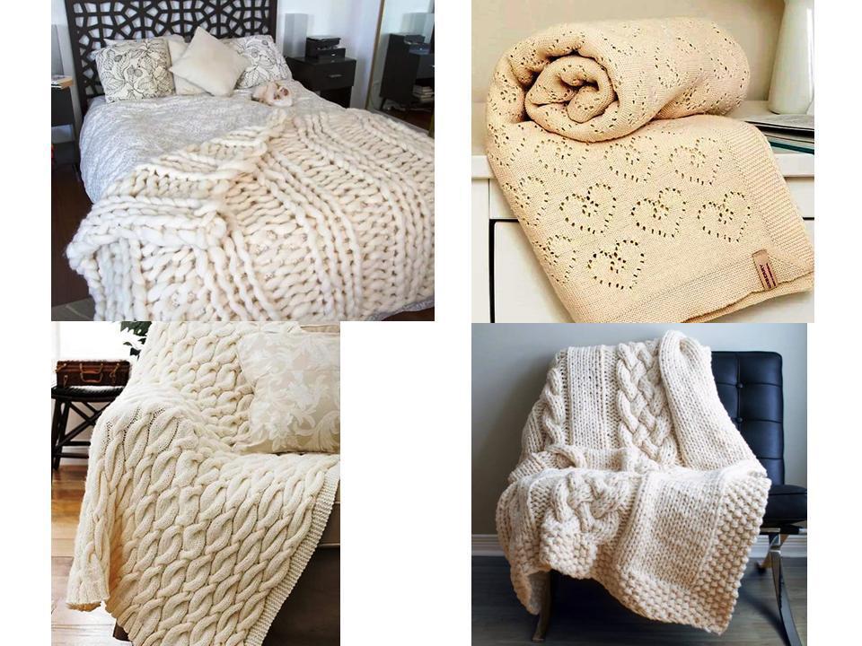 вязаные пледы тепло и уют своими руками интерьер текстиль