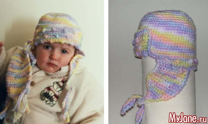 Шапочка и шарф для Анечки. Вязание крючком