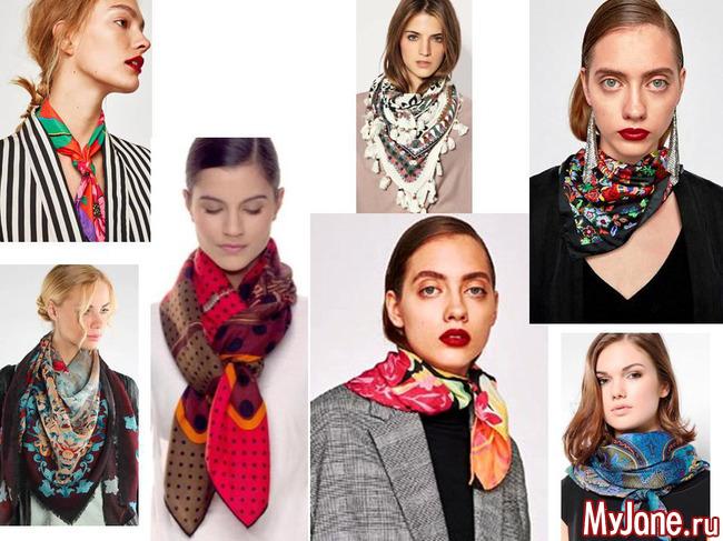 шарфы, платки, коллаж, мода