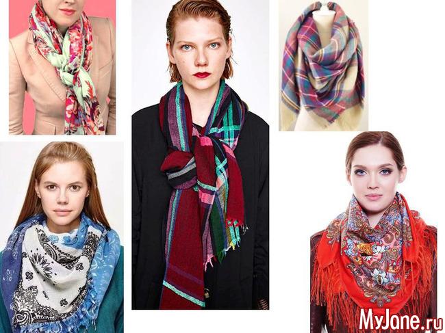 шарфы, платки, коллаж