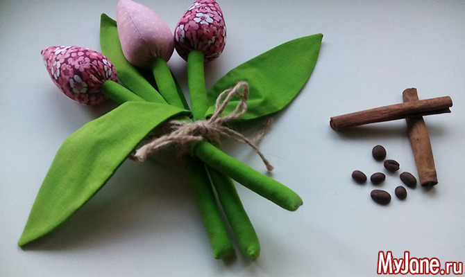 Текстильный ароматический букет