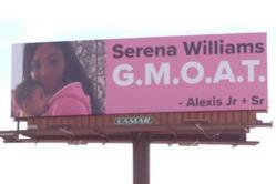 Алексис Оганян посвятил Серене Уильямс и их дочке 4 билборда