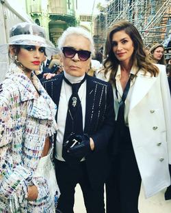 Карл Лагерфельд и дочка Синди Кроуфорд вместе создадут модную коллекцию