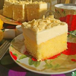 """Очень лимонный пирог с """"облаком"""" из маршмеллоу"""