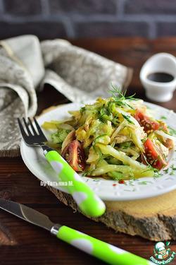 Теплый салат с жареным кабачком