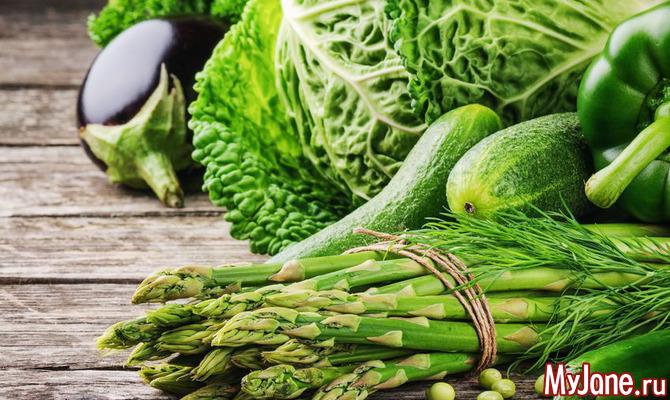 О чем говорит цвет овощей и фруктов? Зеленый
