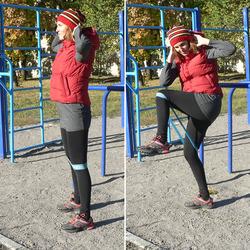 Новая тренировка с фитнес-резинкой