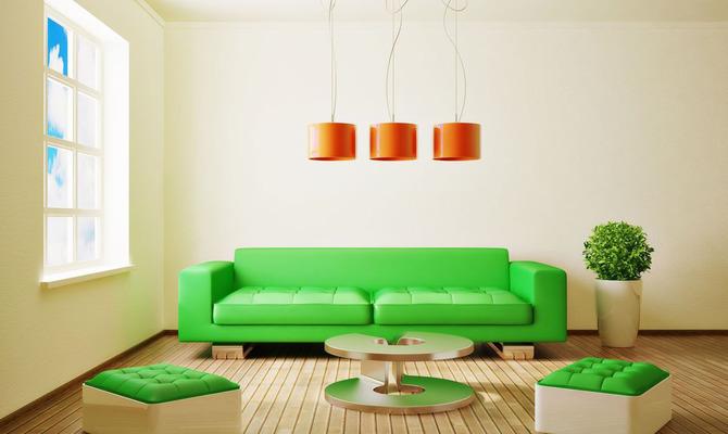 Интерьер в зеленом цвете: покой и гармония