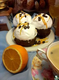 Кофейно-апельсиновые пасхальные кексы