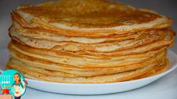 Самый удачный рецепт Блинов на кефире - Тонкие Блинчики на кефире с Дырочками, для любых начинок!