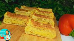 ОМЛЕТ По-НОВОМУ! Готовлю каждый день этот Вкусный и Быстрый Завтрак ОМЛЕТ-РУЛЕТ с Сыром