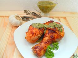 Куриные голени под чесночным соусом