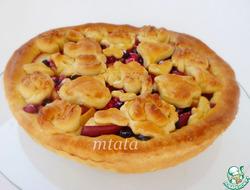 Песочно-дрожжевой пирог с яблоками