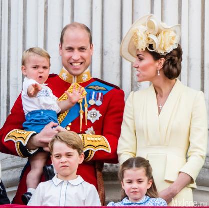 Принц Луи первый раз посетил парад