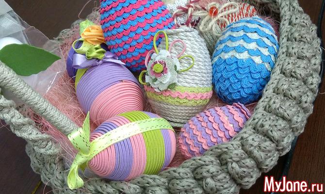 Декоративное яйцо. Мастер-класс для занятий с детьми