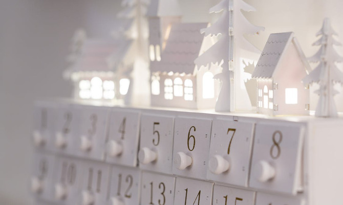 Как сделать необычный рождественский календарь?