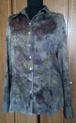Перекраска шелковой одежды растениями
