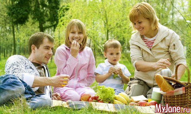 Пикник с ребенком: о еде для малыша