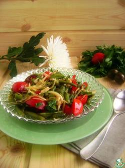 Мой салат из зеленой фасоли