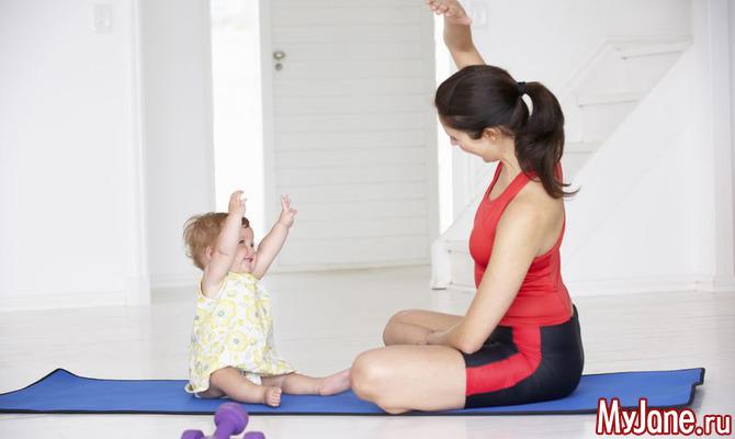 Йога-тренировка с малышом во время домашней изоляции