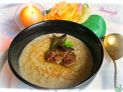 Крем-суп из гречки с печенью