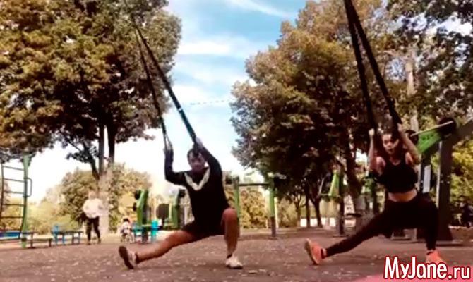 Двое в петлях, или Программа парной уличной тренировки на базе спортивных петель