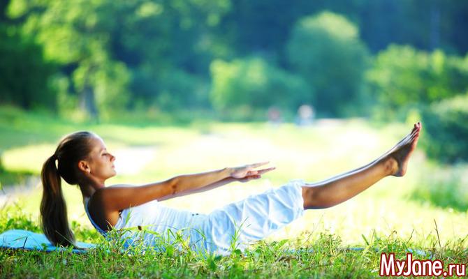Как с помощью йоги убрать живот