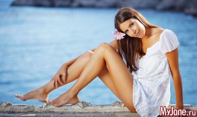 Как добиться красивого загара ног?