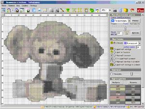 Создание схемы для вышивки крестом онлайн