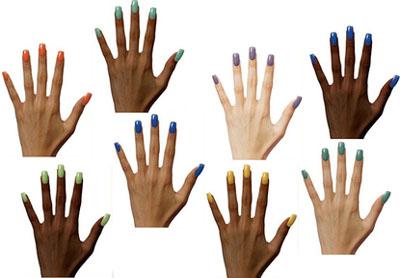 Цвет лака для ногтей на загорелые руки
