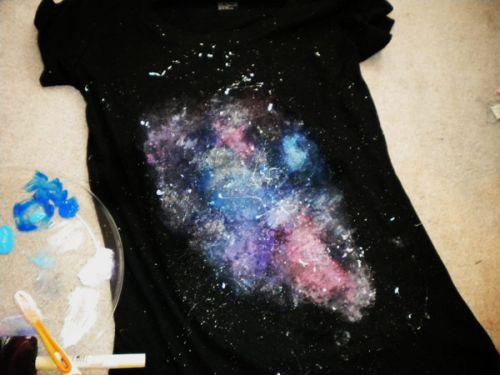 Раскрасить футболки своими руками